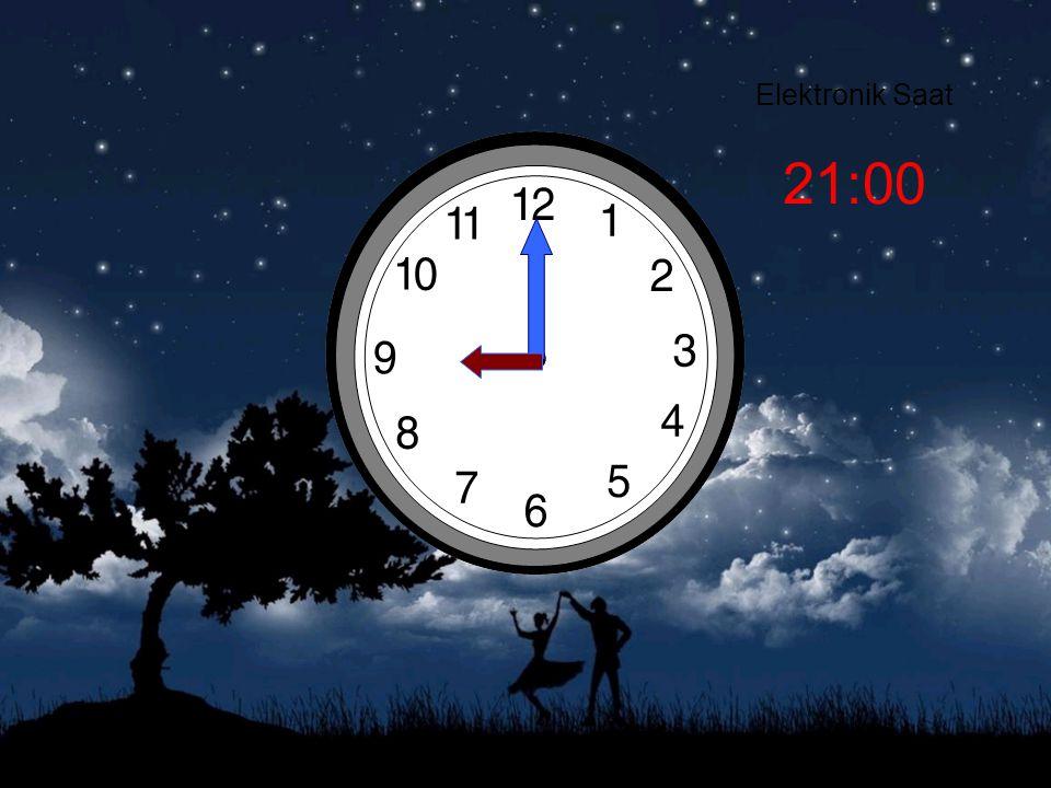 Elektronik Saat 21:00