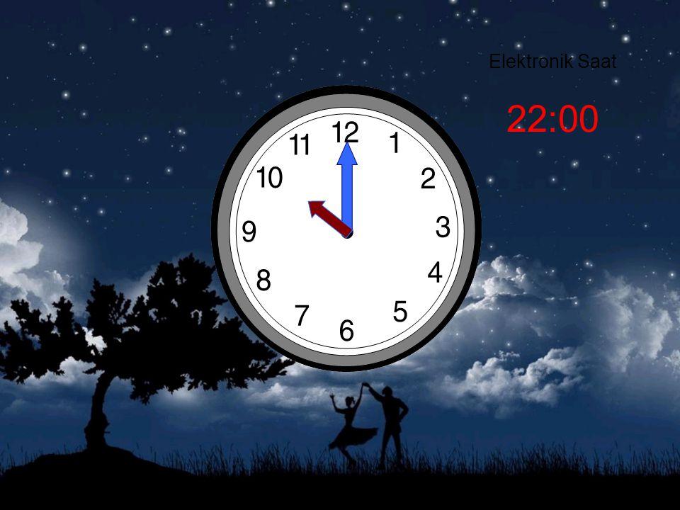 Elektronik Saat 22:00