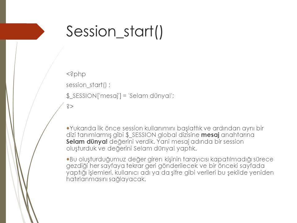 Session_start() < php session_start() ;