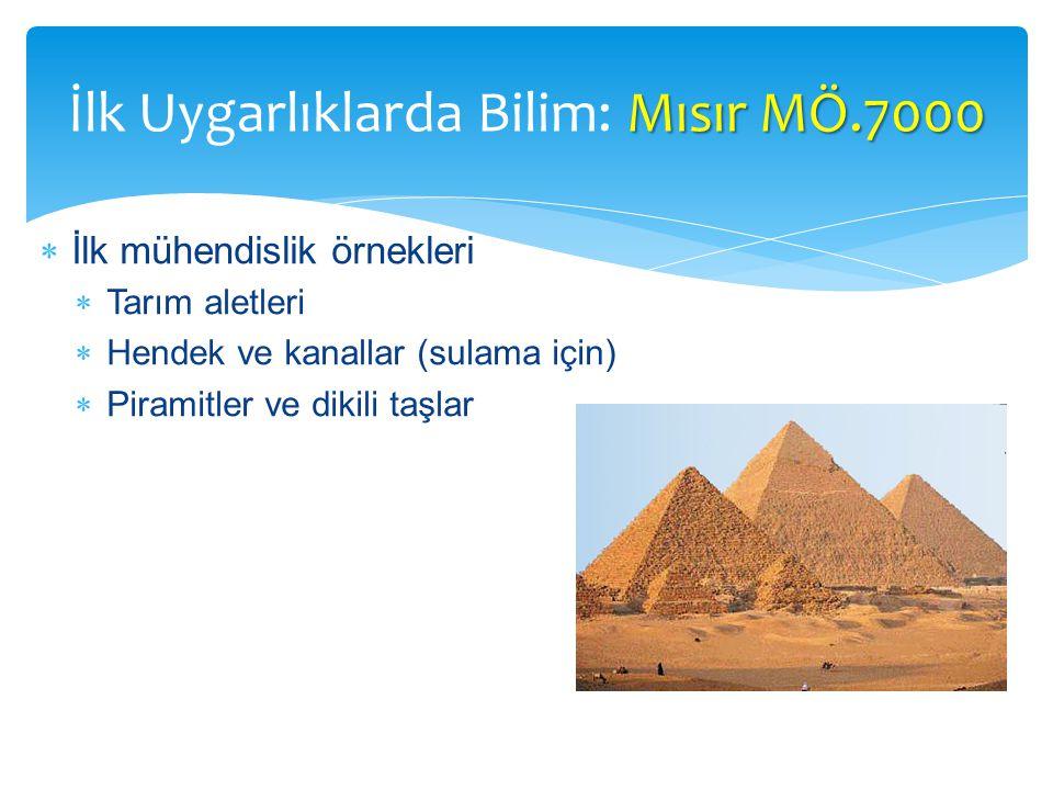 İlk Uygarlıklarda Bilim: Mısır MÖ.7000