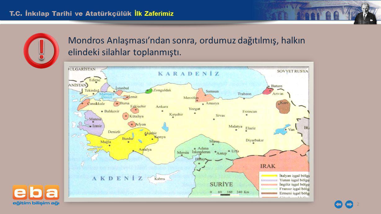 ! T.C. İnkılap Tarihi ve Atatürkçülük İlk Zaferimiz