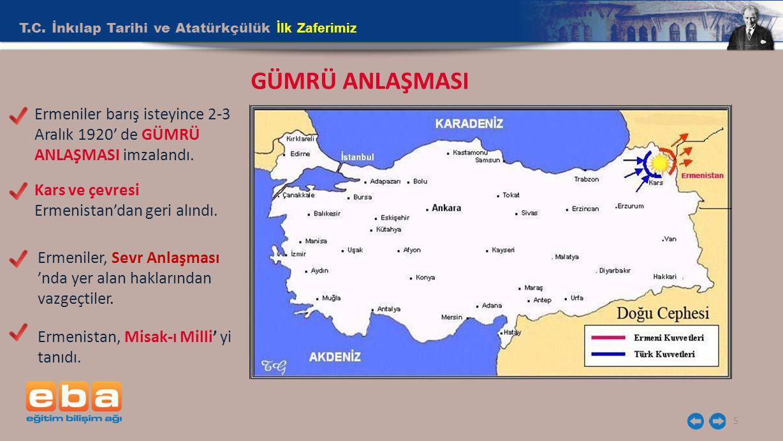 GÜMRÜ ANLAŞMASI T.C. İnkılap Tarihi ve Atatürkçülük İlk Zaferimiz