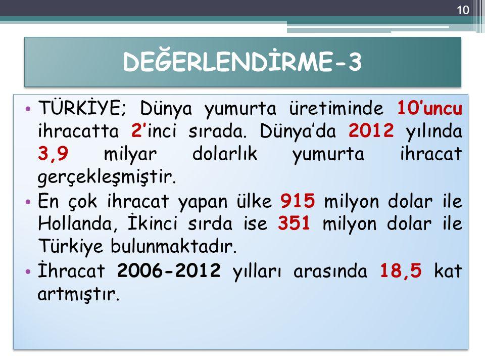 DEĞERLENDİRME-3