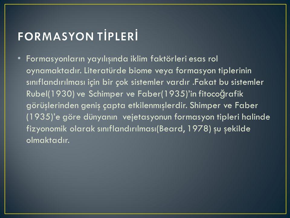 FORMASYON TİPLERİ