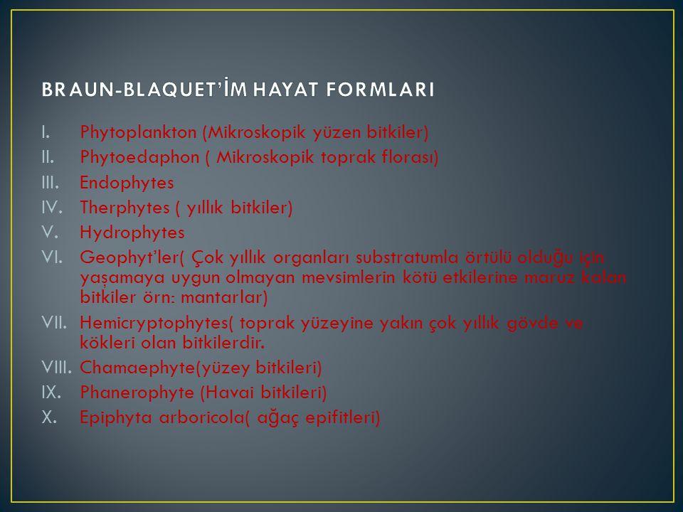 BRAUN-BLAQUET'İM HAYAT FORMLARI