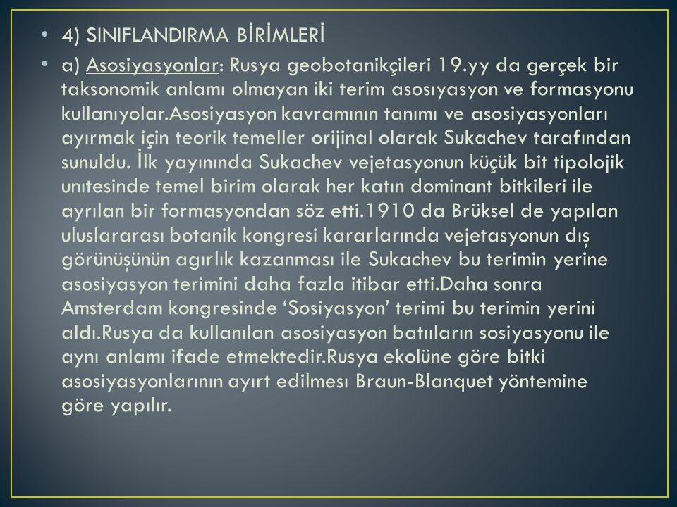 4) SINIFLANDIRMA BİRİMLERİ