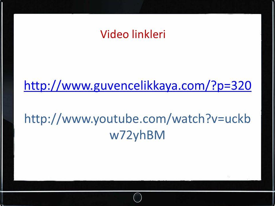 Video linkleri http://www.guvencelikkaya.com/ p=320 http://www.youtube.com/watch v=uckbw72yhBM