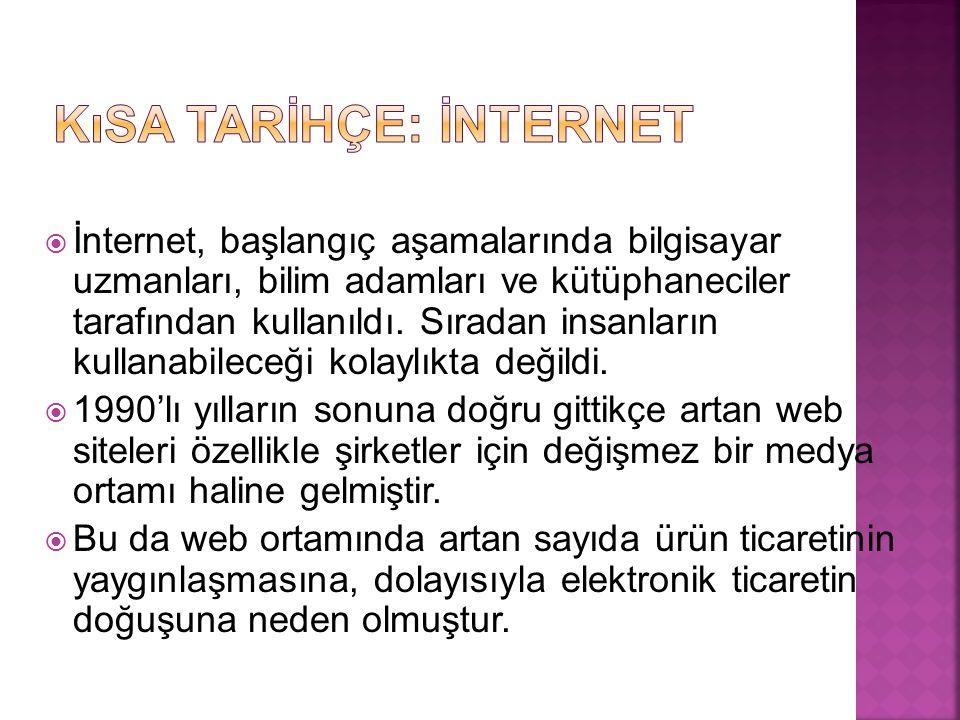 Kısa Tarİhçe: İnternet
