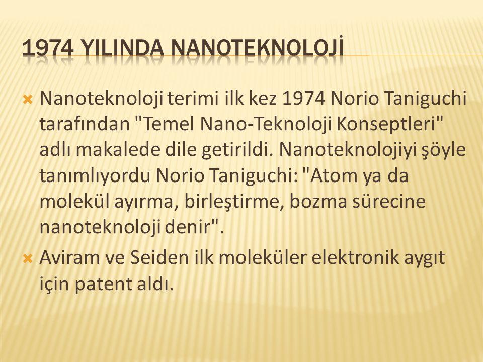 1974 YILINda NANOTEKNOLOJİ