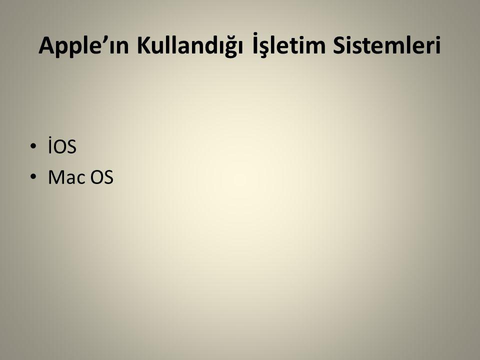 Apple'ın Kullandığı İşletim Sistemleri