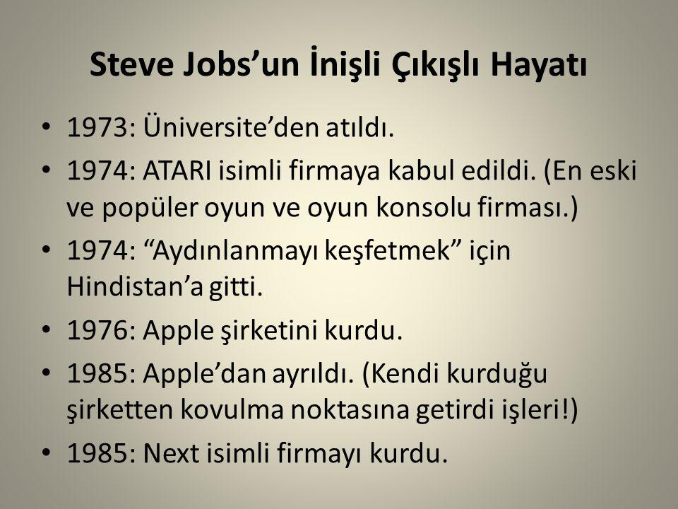 Steve Jobs'un İnişli Çıkışlı Hayatı