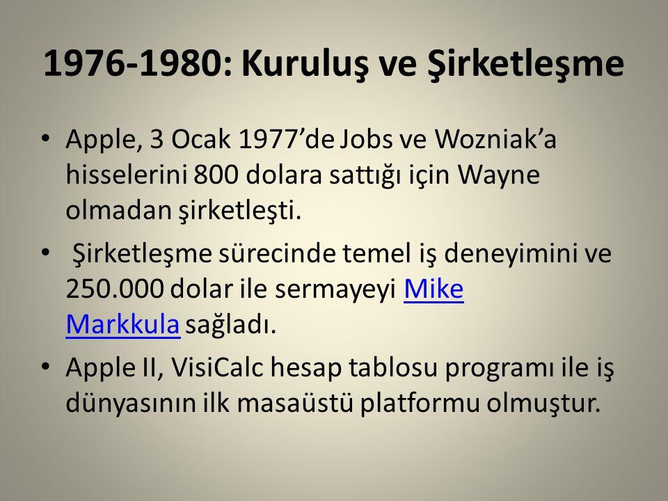 1976-1980: Kuruluş ve Şirketleşme