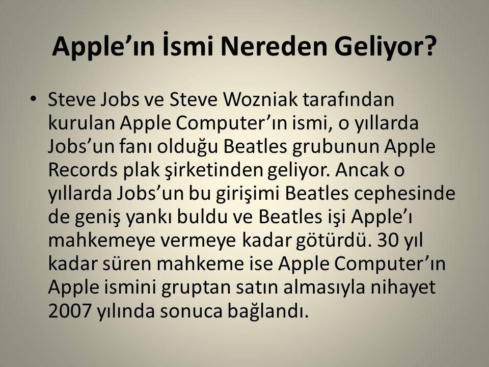 Apple'ın İsmi Nereden Geliyor