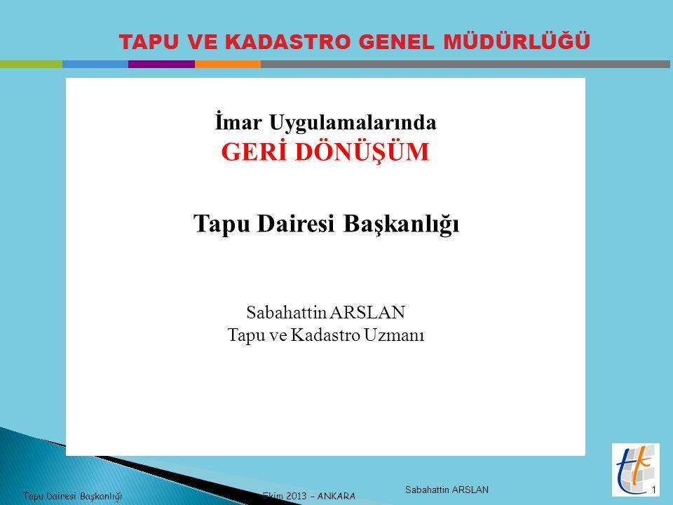 Tapu Dairesi Başkanlığı