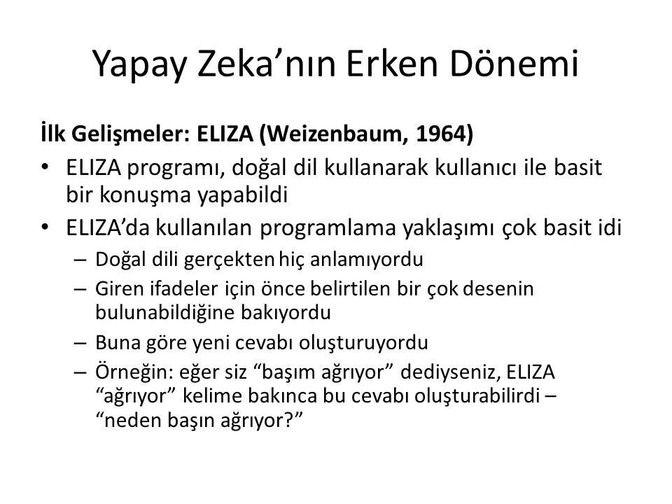 Yapay Zeka'nın Erken Dönemi