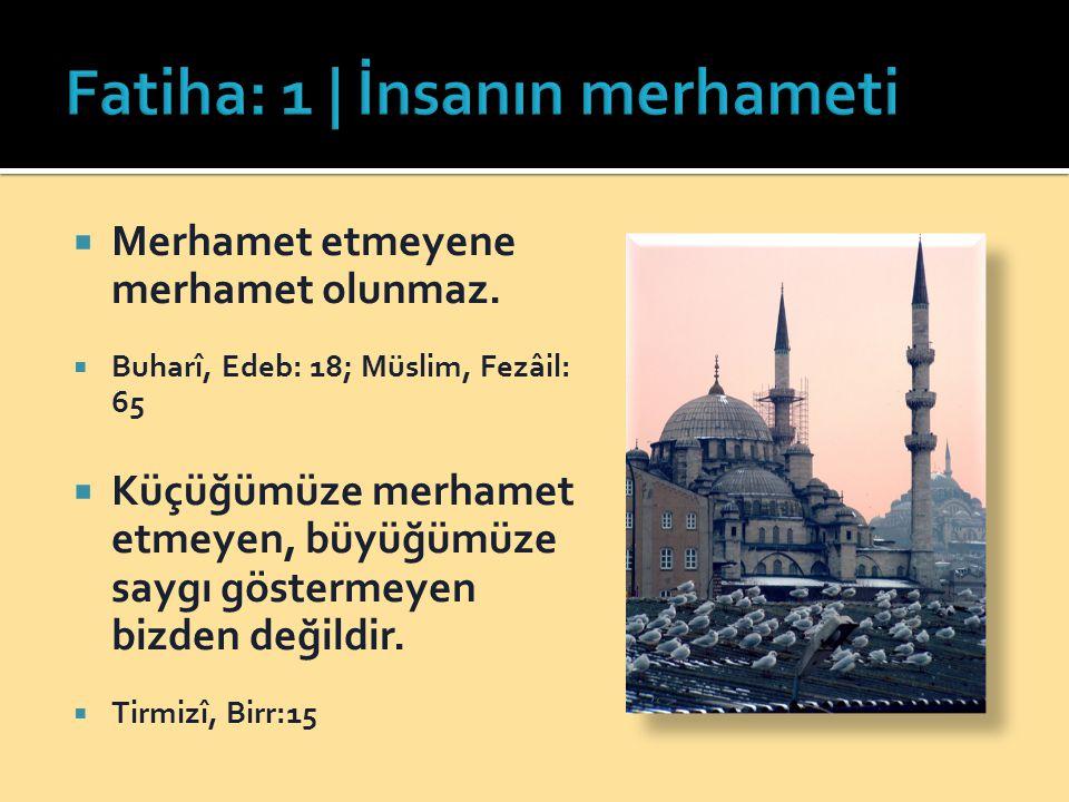 Fatiha: 1 | İnsanın merhameti