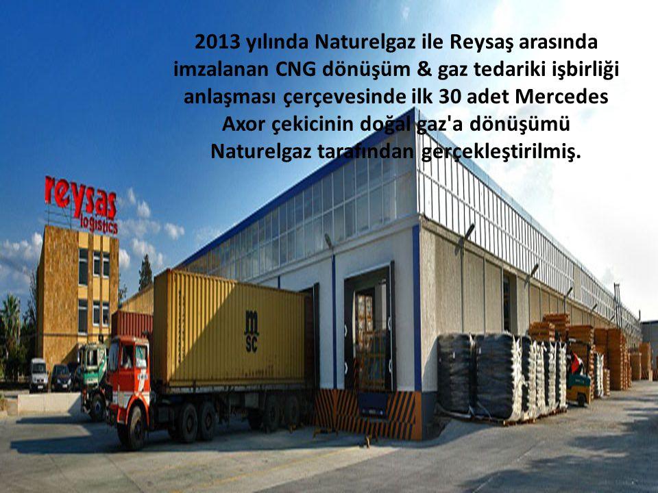 2013 yılında Naturelgaz ile Reysaş arasında imzalanan CNG dönüşüm & gaz tedariki işbirliği anlaşması çerçevesinde ilk 30 adet Mercedes Axor çekicinin doğal gaz a dönüşümü Naturelgaz tarafından gerçekleştirilmiş.