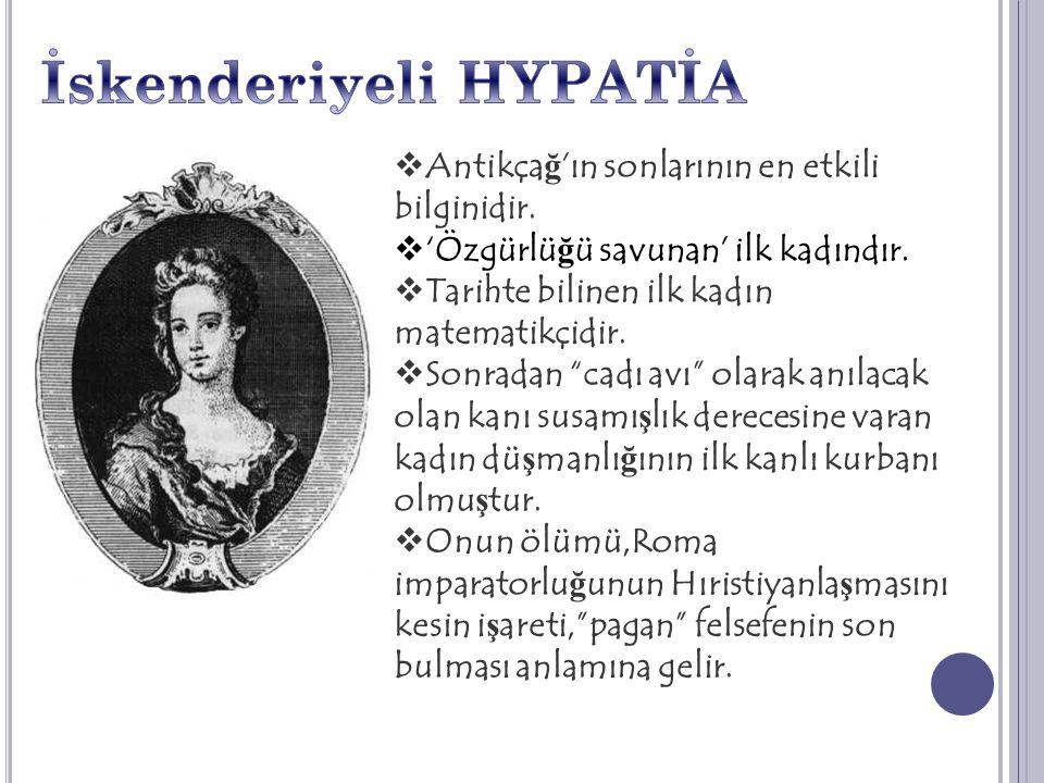 İskenderiyeli HYPATİA