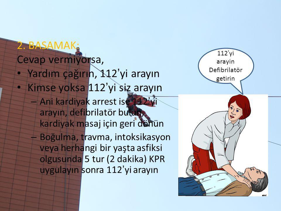 Yardım çağırın, 112'yi arayın Kimse yoksa 112'yi siz arayın