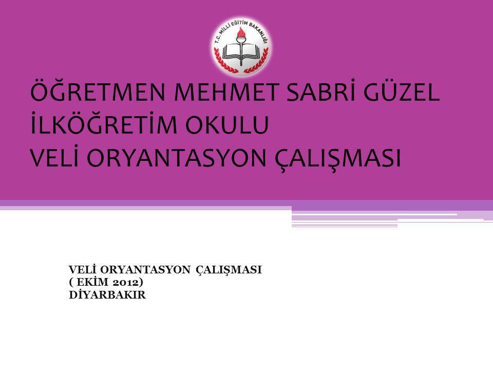 VELİ ORYANTASYON ÇALIŞMASI ( EKİM 2012) DİYARBAKIR