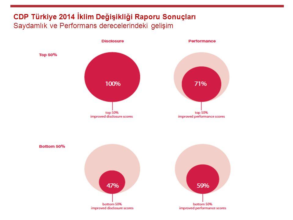 CDP Türkiye 2014 İklim Değişikliği Raporu Sonuçları