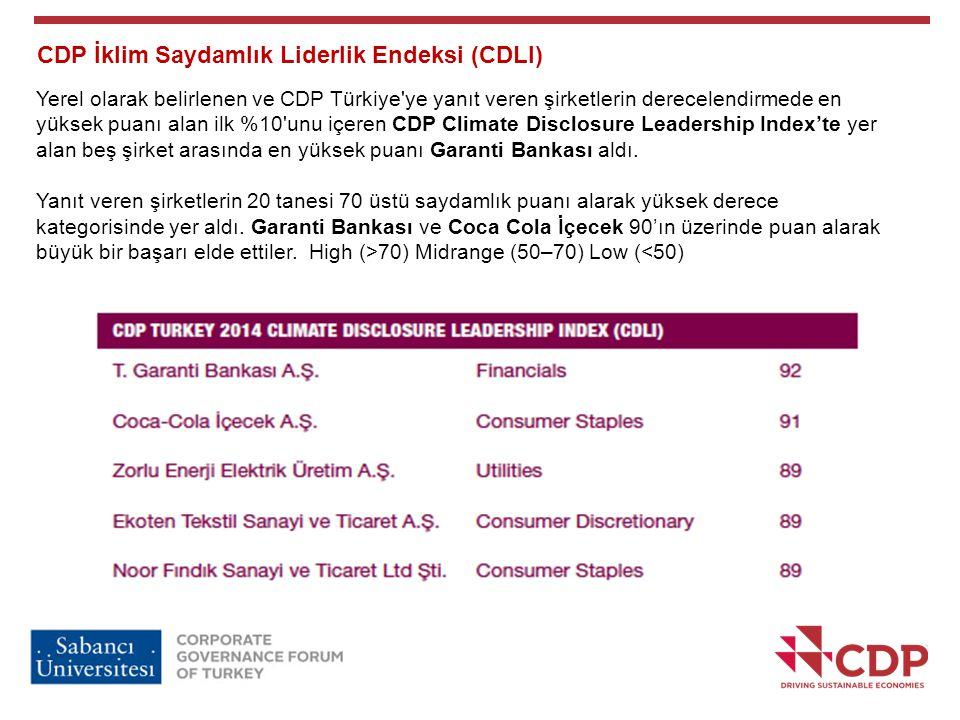 CDP İklim Saydamlık Liderlik Endeksi (CDLI)