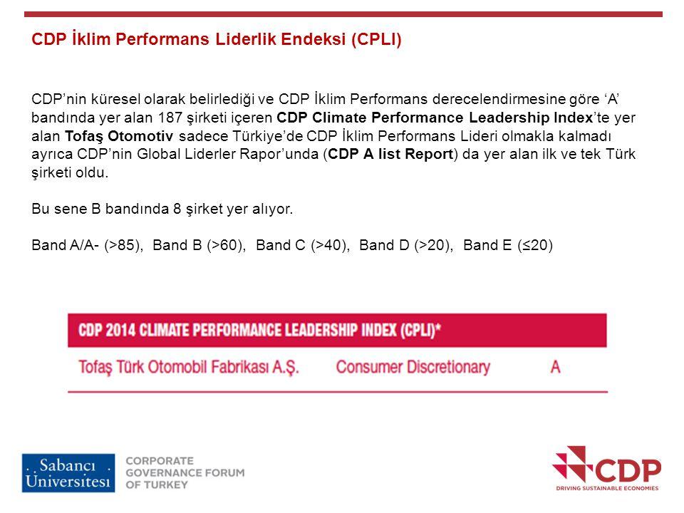 CDP İklim Performans Liderlik Endeksi (CPLI)