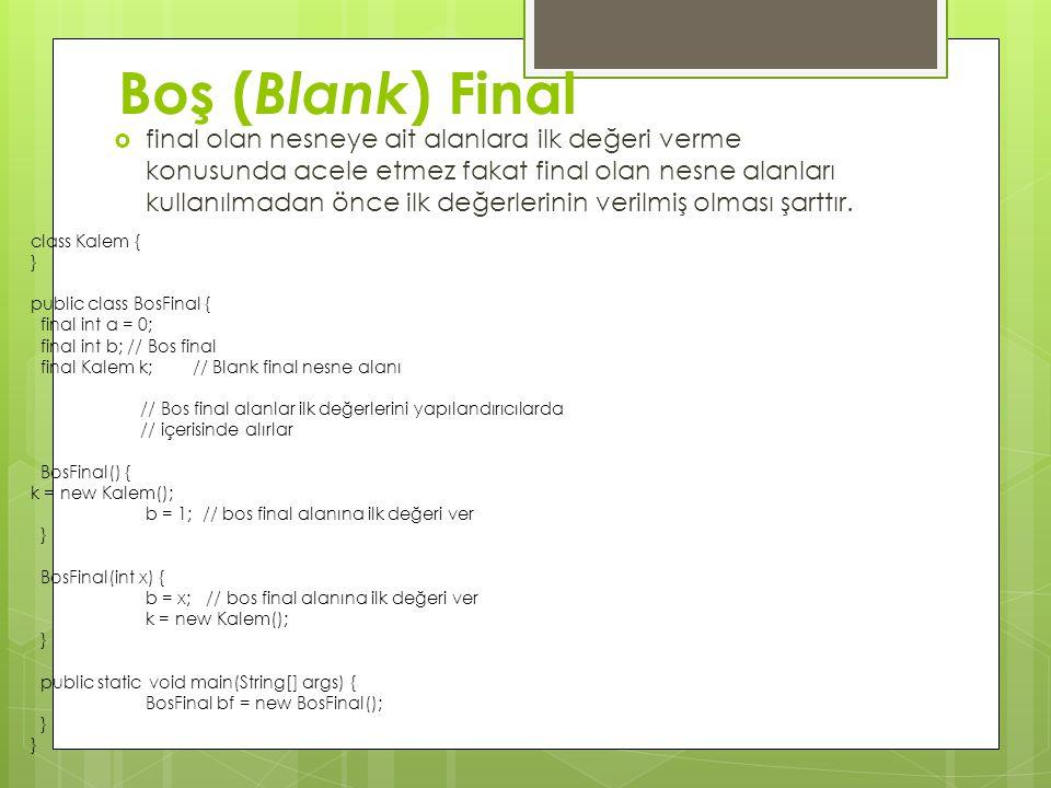 Boş (Blank) Final