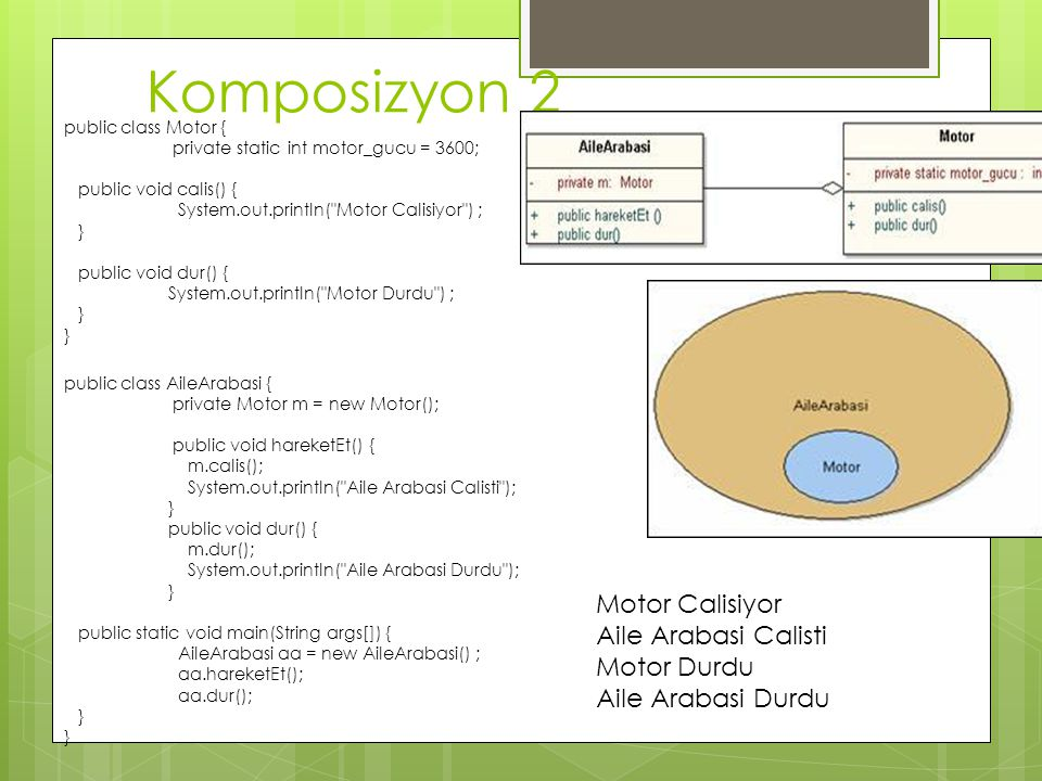Komposizyon 2 Motor Calisiyor Aile Arabasi Calisti Motor Durdu