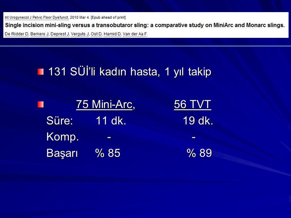 131 SÜİ'li kadın hasta, 1 yıl takip