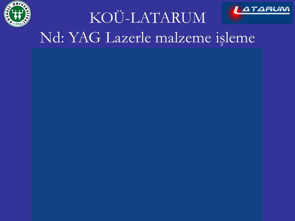 KOÜ-LATARUM Nd: YAG Lazerle malzeme işleme