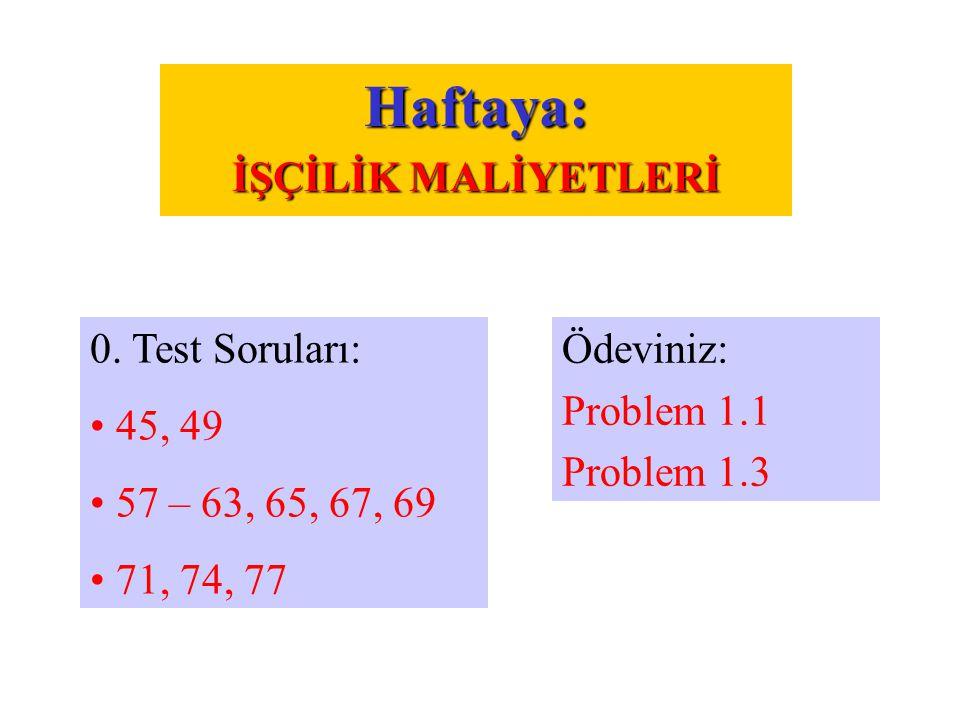 Ödeviniz: Problem 1.1 Problem 1.3