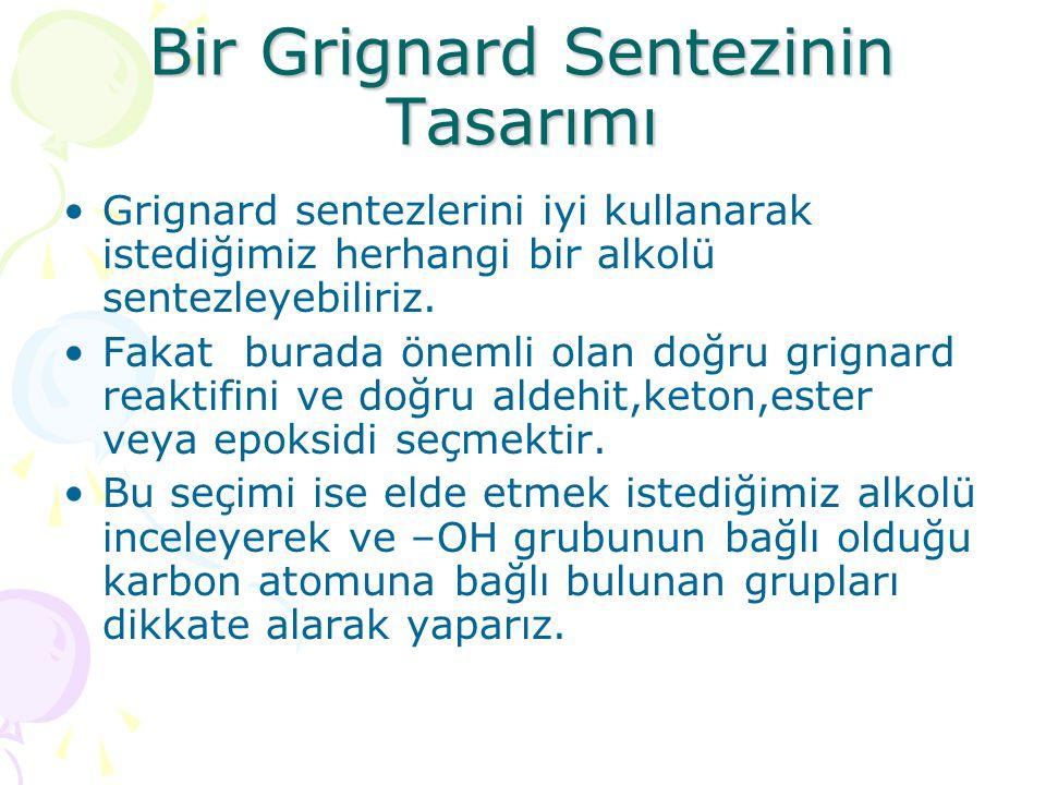 Bir Grignard Sentezinin Tasarımı