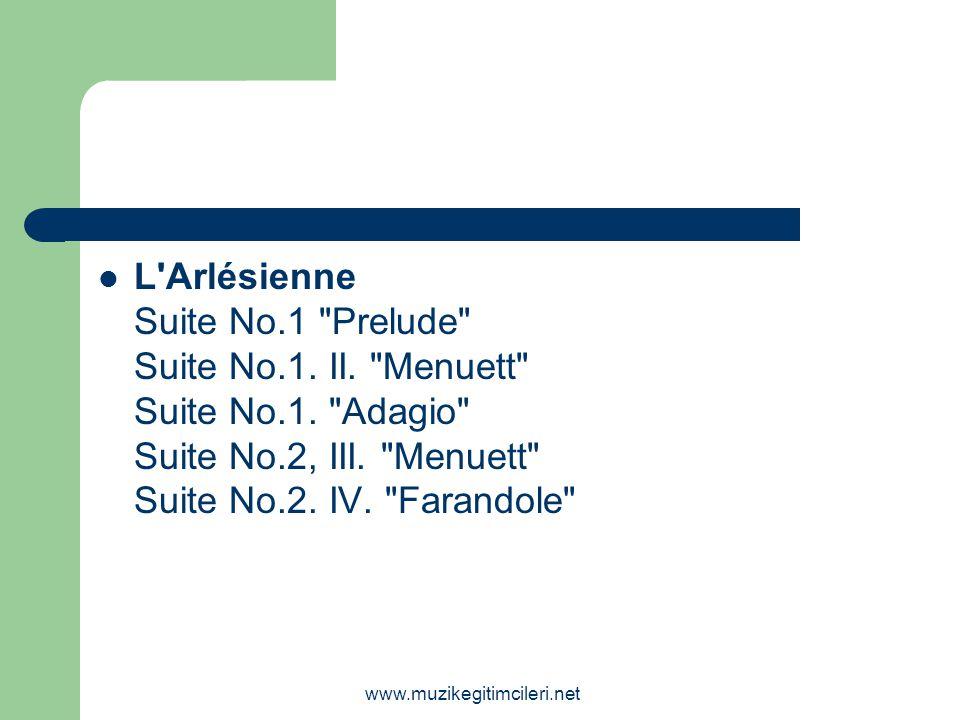 L Arlésienne Suite No. 1 Prelude Suite No. 1. II. Menuett Suite No