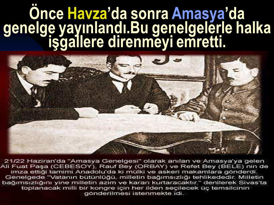 Önce Havza'da sonra Amasya'da genelge yayınlandı