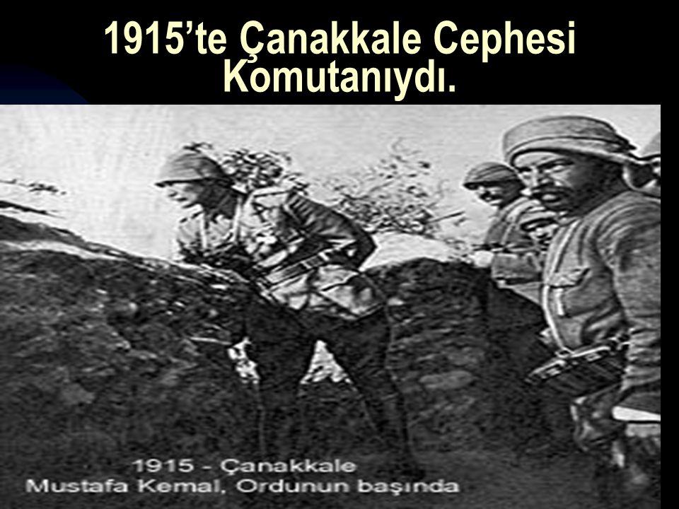 1915'te Çanakkale Cephesi Komutanıydı.