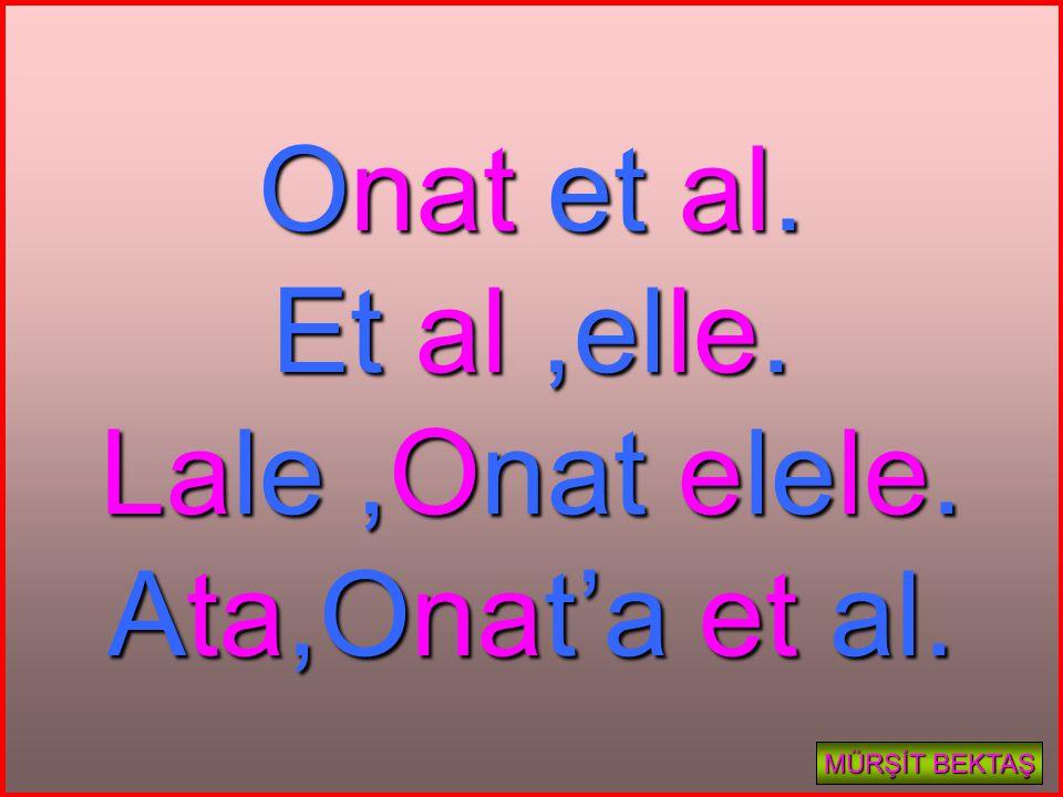 Onat et al. Et al ,elle. Lale ,Onat elele. Ata,Onat'a et al.