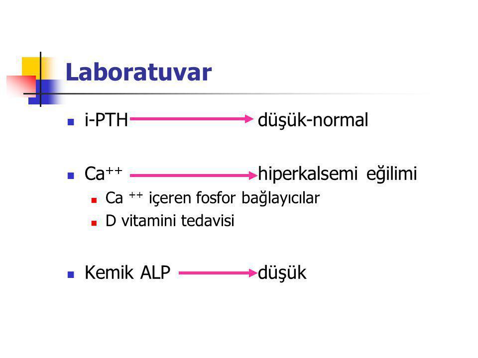Laboratuvar i-PTH düşük-normal Ca++ hiperkalsemi eğilimi