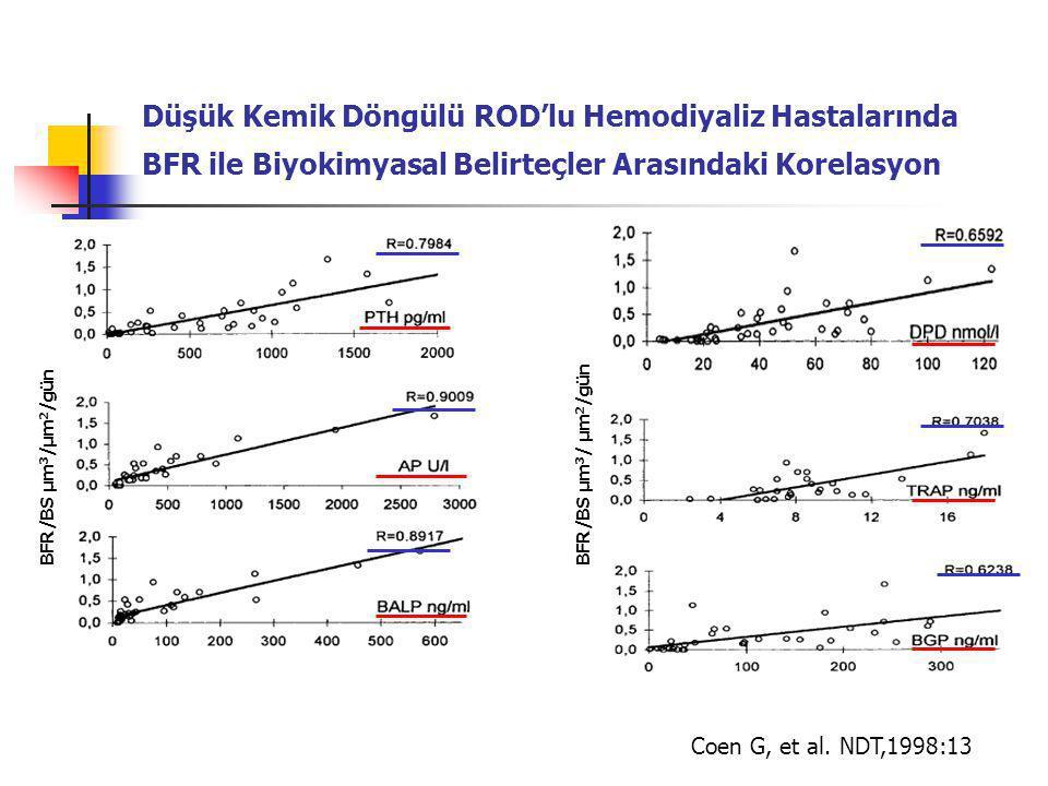 Düşük Kemik Döngülü ROD'lu Hemodiyaliz Hastalarında BFR ile Biyokimyasal Belirteçler Arasındaki Korelasyon
