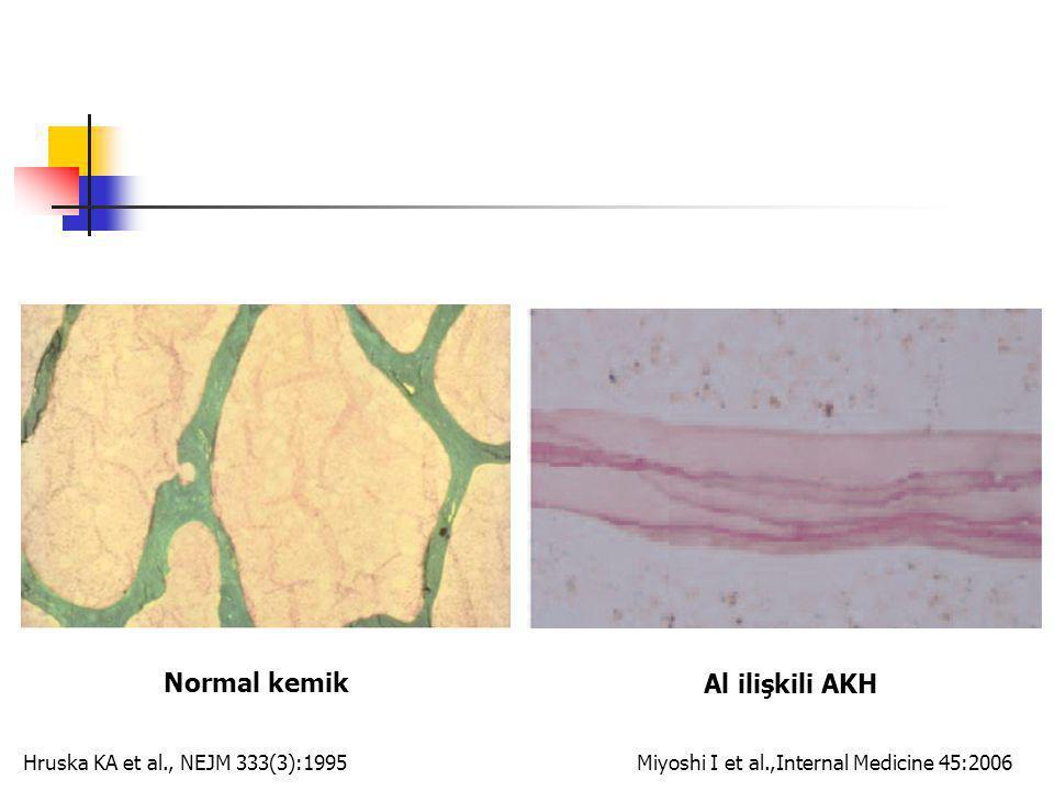 Normal kemik Al ilişkili AKH Hruska KA et al., NEJM 333(3):1995