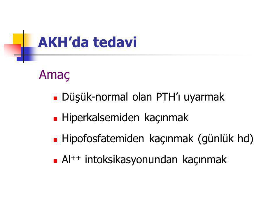 AKH'da tedavi Amaç Düşük-normal olan PTH'ı uyarmak