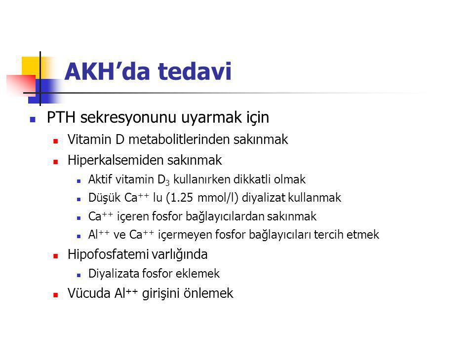 AKH'da tedavi PTH sekresyonunu uyarmak için