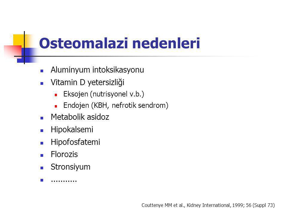 Osteomalazi nedenleri