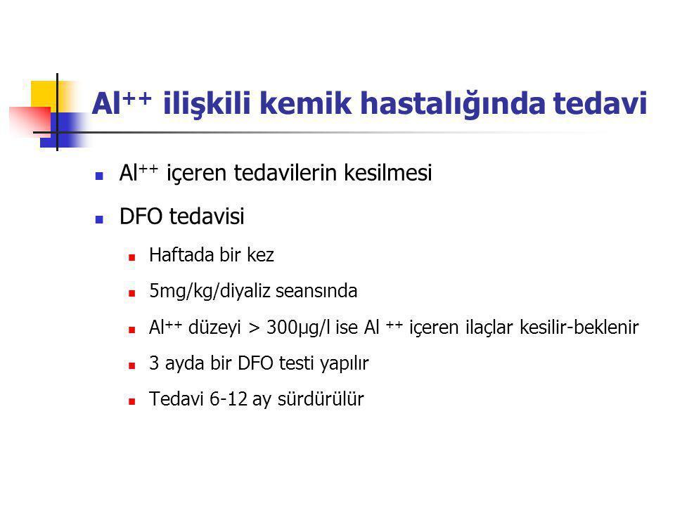 Al++ ilişkili kemik hastalığında tedavi