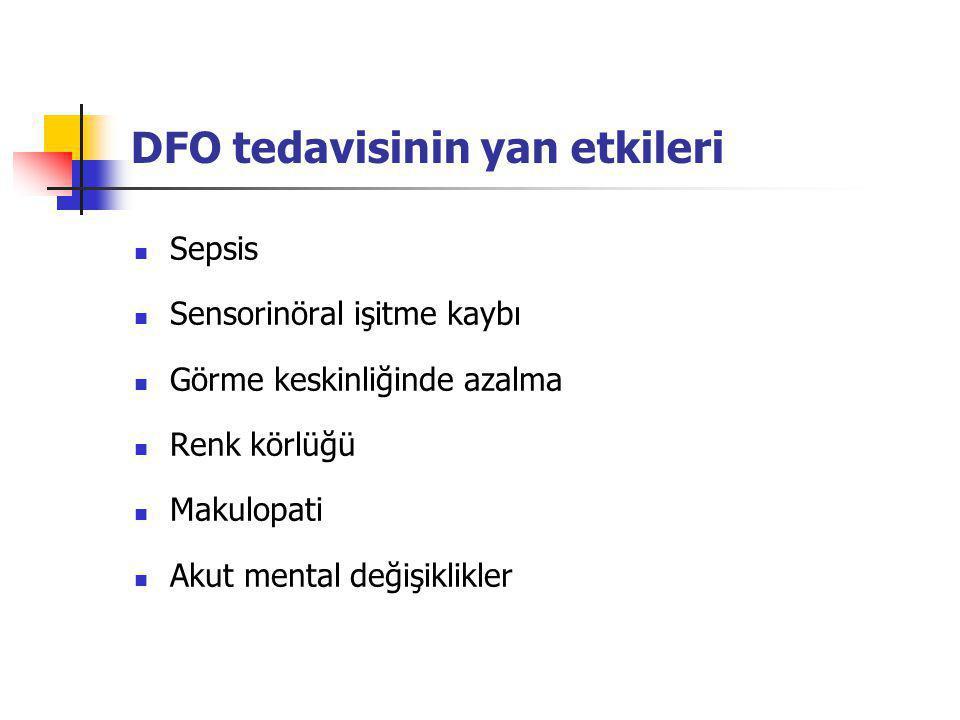 DFO tedavisinin yan etkileri
