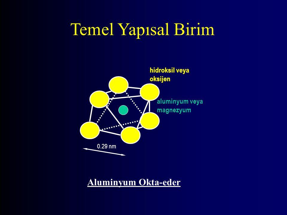 Temel Yapısal Birim Aluminyum Okta-eder hidroksil veya oksijen