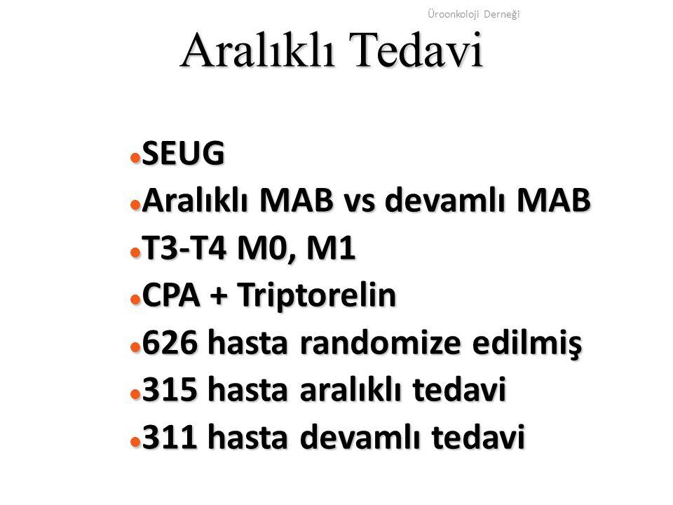Aralıklı Tedavi SEUG Aralıklı MAB vs devamlı MAB T3-T4 M0, M1