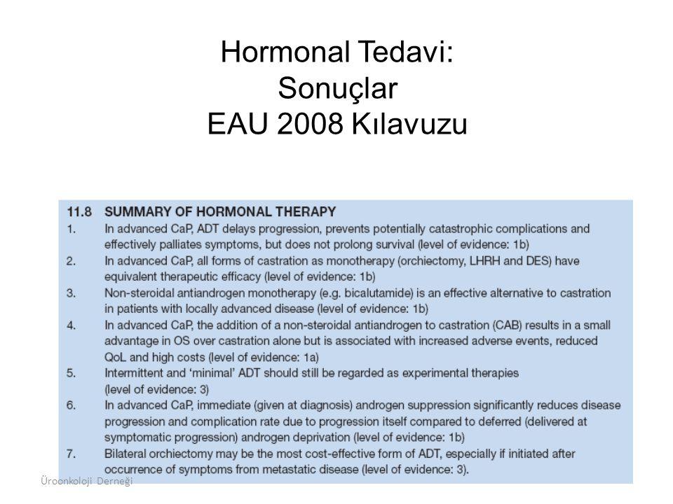 Hormonal Tedavi: Sonuçlar EAU 2008 Kılavuzu
