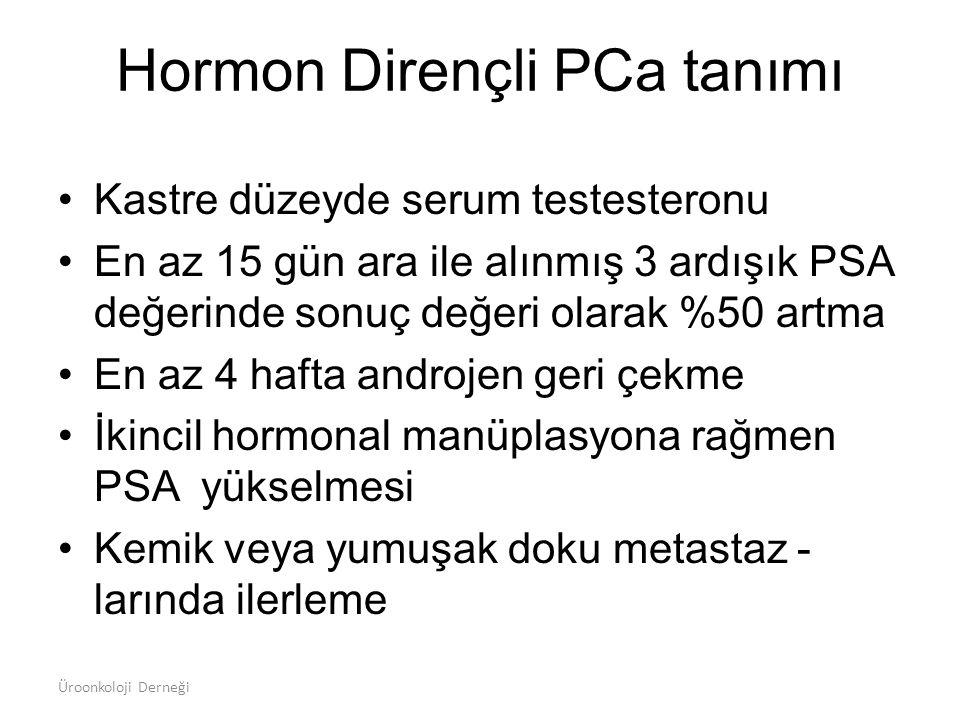 Hormon Dirençli PCa tanımı