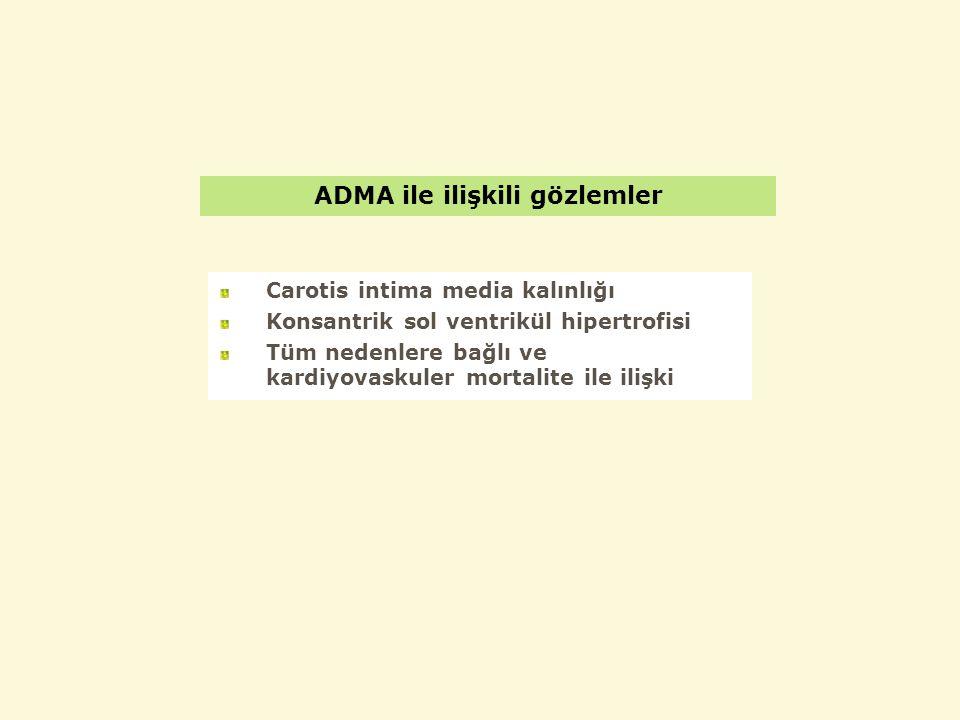 ADMA ile ilişkili gözlemler